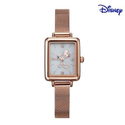 디즈니 미키마우스 여성 사각 메탈손목시계 D11019MRW