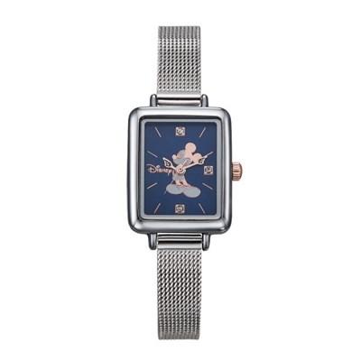 디즈니 미키마우스 여성 사각 메탈손목시계 D11019MBL