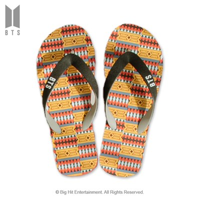 [BTS 공식라이선스] BTS IDOL 플립플랍 샌들_오렌지