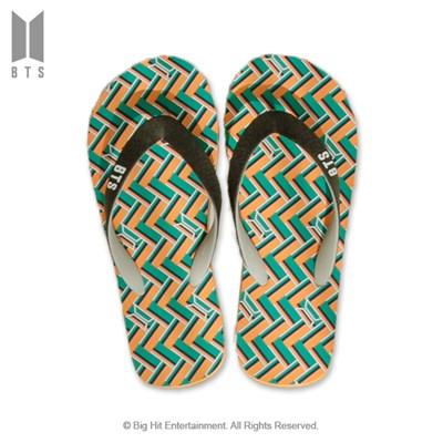 [BTS 공식라이선스] BTS IDOL 플립플랍 샌들_그린
