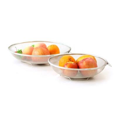 스텐 원형 채반바구니 채소 과일 소쿠리 야채 물빼기 스텐바구니 2종