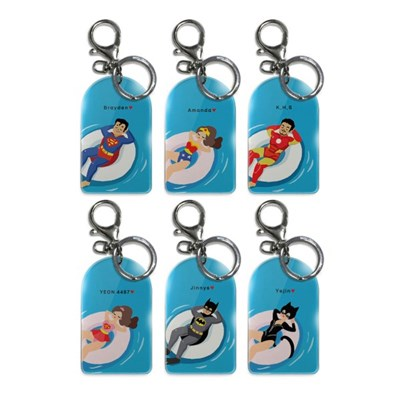 Flexible Key holder_Super family vacation_Vol.01 (L Size)