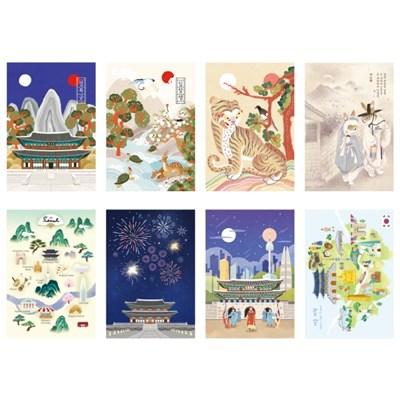500 한국 엽서세트4(8ea)_(3021434)