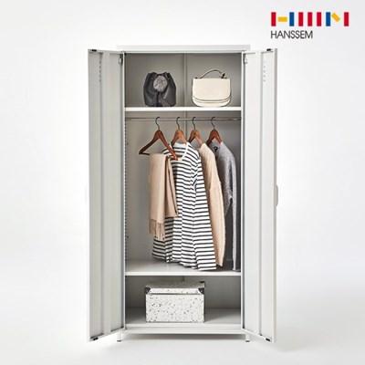 [한샘] 재크 철제 옷장 양문형 화이트_(1015375)