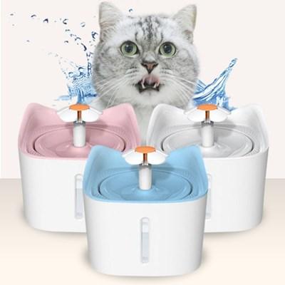 고양이 강아지 플라워정수기 저소음 자동급수기