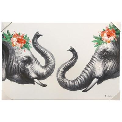 앳하스홈 아트 캔버스 픽처 90*60cm_ 인사하는 코끼리