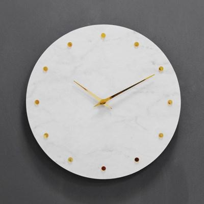 (khyn001)저소음 대리석디자인 시계 도트(W)_(907447)
