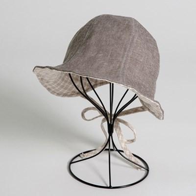 [더로라]버킷햇 벙거지 모자- 튜울립 첵크 양면 모자 H009