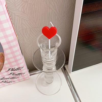 Flat Heart Candle 플랫하트캔들(5개)
