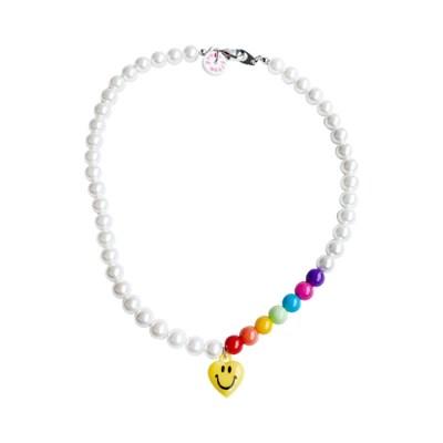 [Fruta] Rainbow & pearl necklace
