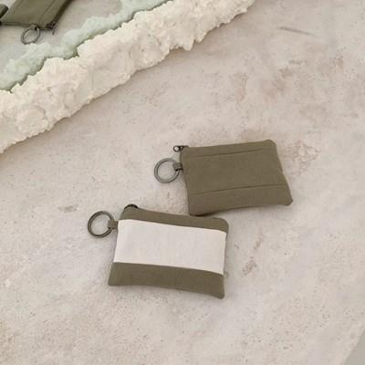 모스 카드지갑(moss card wallet)-카키