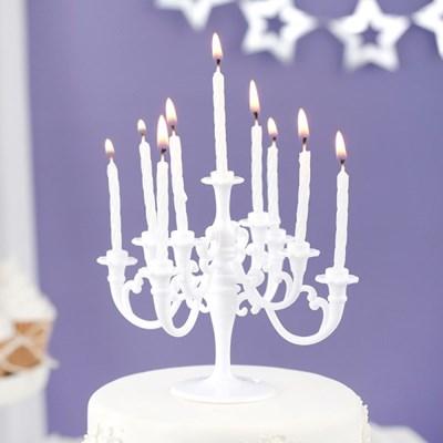 샹들리에 생일케익초 촛대&캔들 세트 [화이트]_(12075906)