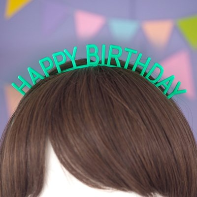 Happy Birthday Band 생일머리띠 [그린]_(12075835)