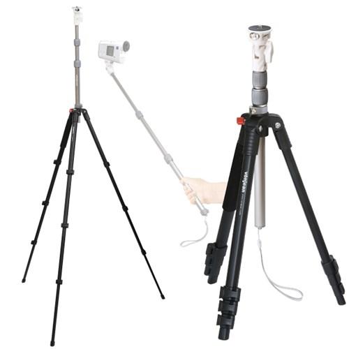 VT-3419M 프리미엄 셀카봉 삼각대 (미러리스 액션캠 카메라 등)