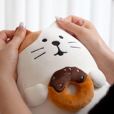 데꼴 쫀득 미니쿠션 인형 고양이