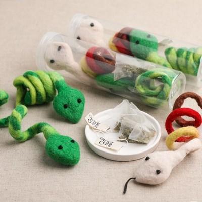 뉴질랜드산 100%양모 장난감 뱀뱀이