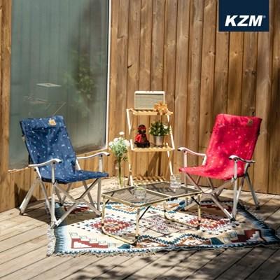 카즈미 모노그램 미니 릴렉스체어 K20T1C020 / 캠핑 낚시 의자