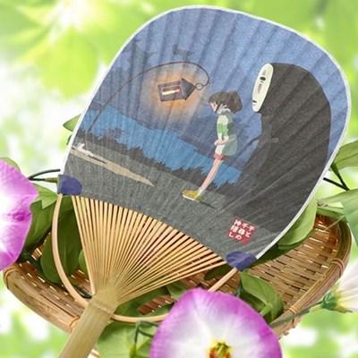 가오나시 타원형 대나무 부채 (마중)_(1971895)