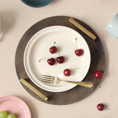 [검트리 시드니] 모던 감성 플레이팅 그릇 - 원형접시 22cm 5color