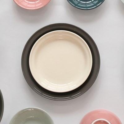 [검트리 시드니] 모던 감성 플레이팅 그릇 - 원형접시 19cm 5color