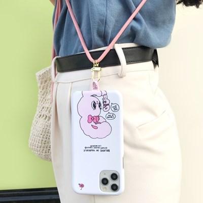 에스더버니 코믹스 슬림 하드 케이스+목걸이줄 넥클리스 세트 아이폰