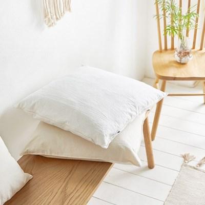 사각 의자 방석 광목 아이보리 화이트 인테리어 2color_(1340182)