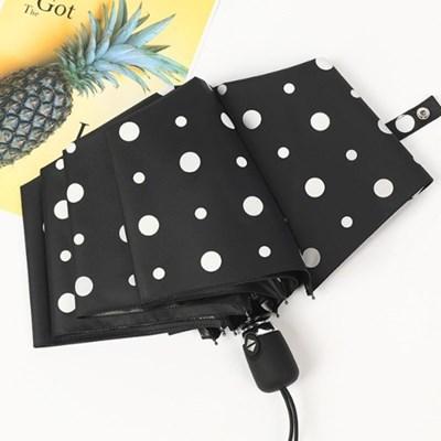 도트 UV차단 자동 양산 우산(블랙)