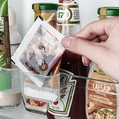 아토소 4도어 냉장고 선반 클립형 소스 보관 포켓 정리대 트레이