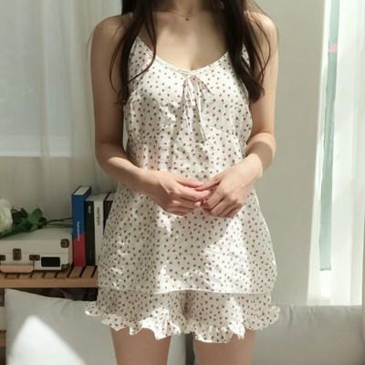 로맨틱 로즈 여름 나시 파자마 잠옷