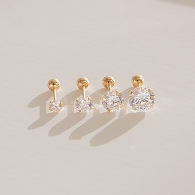 14k gold CZ piercing 4type (14K 골드)