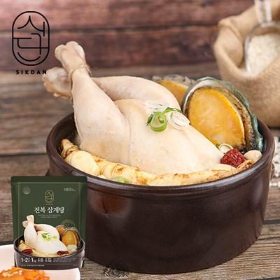 [허닭]식단 전복 삼계탕 1kg 4팩