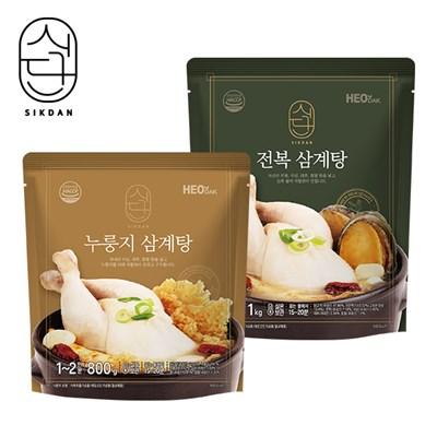 [허닭]식단 삼계탕 혼합4팩 (전복2/누룽지2)