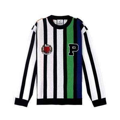 [SS18 Peanuts] P Multi-Stripe Knit(Black)_(786774)