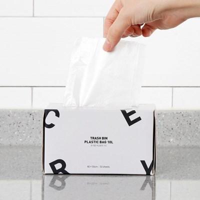 휴지통 비닐봉투 10L 50매
