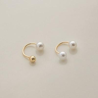 14k gold U hook pearl piercing (14K 골드)