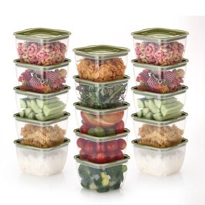 한끼밥 냉동밥 전자렌지용기 400ml 15개(그린)