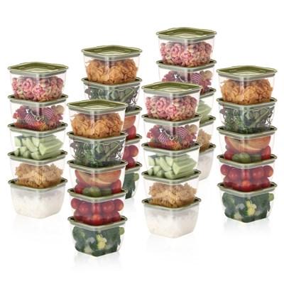 한끼밥 냉동밥 전자렌지용기 400ml 30개(그린)
