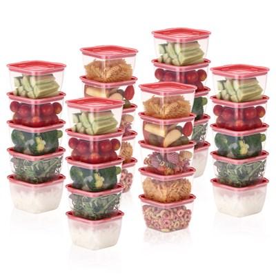 한끼밥 냉동밥 전자렌지용기 400ml 30개(핑크)