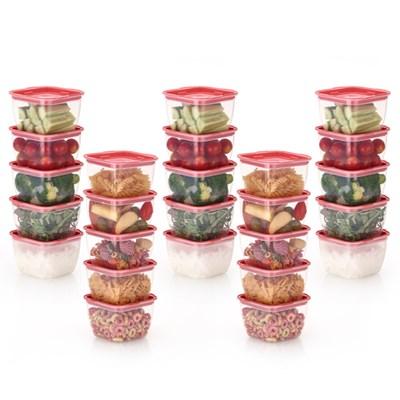 한끼밥 냉동밥 전자렌지용기 400ml 25개(핑크)