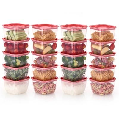 한끼밥 냉동밥 전자렌지용기 400ml 20개(핑크)