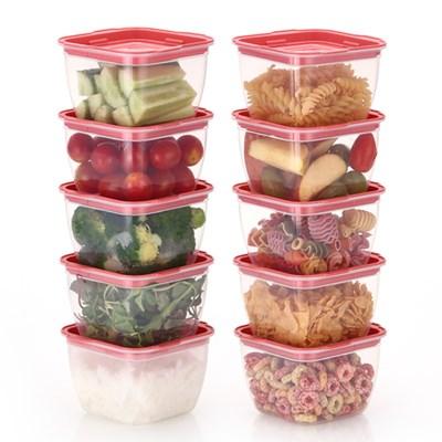한끼밥 냉동밥 전자렌지용기 400ml 10개(핑크)