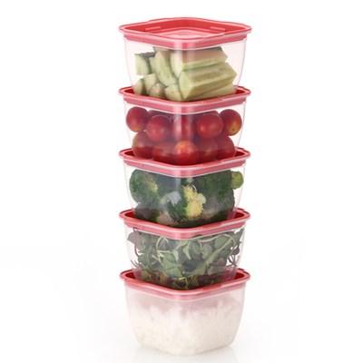 한끼밥 냉동밥 전자렌지용기 400ml 5개(핑크)
