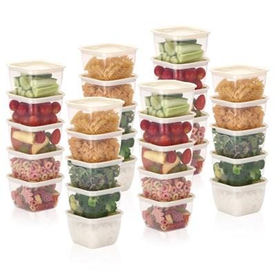 한끼밥 냉동밥 전자렌지용기 400ml 30개(크림)