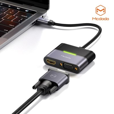 Mcdodo 3 in 1 C타입 USB 멀티 확장 허브 어댑터 HDMI VGA C타입 PD