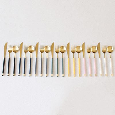 KARA GOLD 디너 스푼,포크 나이프-7color