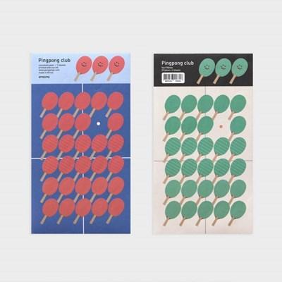 Pingpong club sticker set