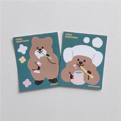 [영이의숲]치카 꽃카 리무버블 스티커