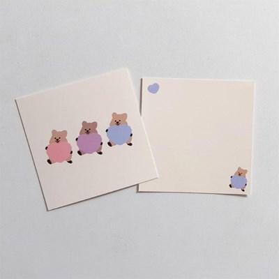 [영이의숲]하트 꽃카 엽서
