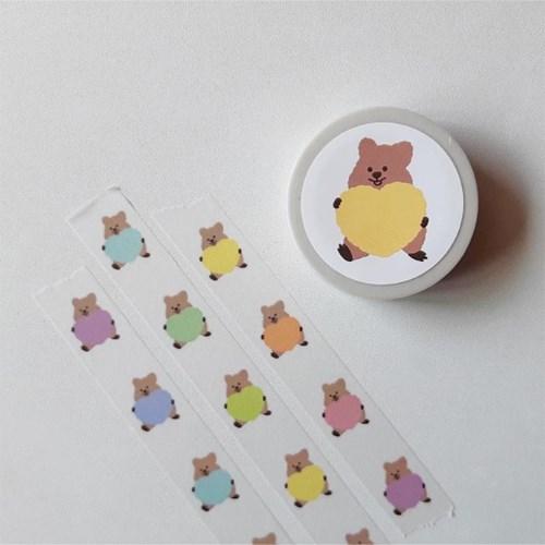 [영이의숲]하트 꽃카 마스킹테이프