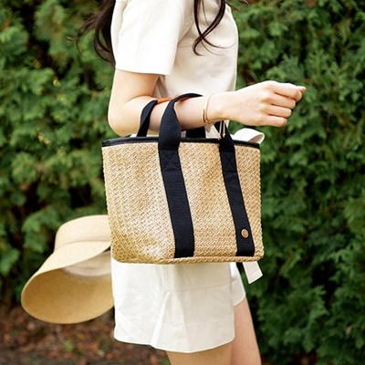 Bonjour Rattan Cooler Bag_Tan M